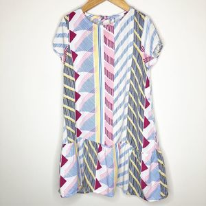 Crazy 8 Geometric Print Flippy Dress, Size 5-6